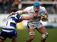 Photo: Richard Lane/Richard Lane Photography. Bath Rugby v Wasps. Aviva Premiership. 10/01/2015. Wasps' James Haskell attacks.