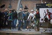 Fabian Cancellara (SUI/Trek-Segafredo) on the start podium<br /> <br /> 100th Ronde van Vlaanderen 2016