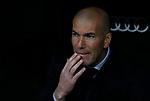 Real Madrid CF's Zinedine Zidane   during the Spanish La Liga match round 20 between Real Madrid and Granada CF at Santiago Bernabeu Stadium in Madrid, Spain