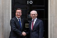 08.10.2013 - Herman Van Rompuy, President of the European Council at 10 Downing Street