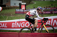 Wout van Aert (BEL/Jumbo-Visma) on his way to winning the 20/21 UCI World Cup<br /> <br /> 2021 UCI CX World Cup Overijse (BEL)<br /> Vlaamse Druivencross<br /> <br /> Men's Race<br /> <br /> ©kramon