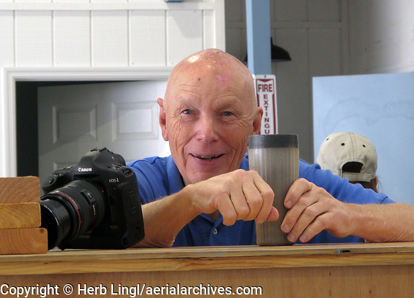 Astronaut and pilot Story Musgrave at the Experimental Aircraft Association hangar at Sebring Regional Airport (SEF) in Sebring, Florida