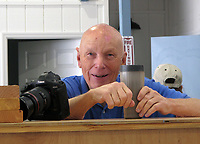 Astronaut and pilot Story Musgrave at the Experimental Aircraft Association hangar at Sebring Regional Airport (SEF) in Sebring, Florida