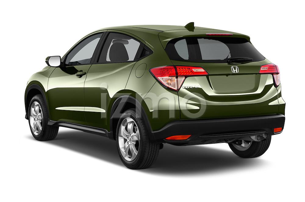 Car pictures of rear three quarter view of a 2016 Honda HR-V EX 5 Door Suv Angular Rear