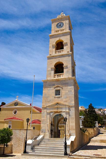 Bell Tower of Saint George Orthodox Church [ Syros ?????????? ??. ???????? ] Ermoupolis, Syros Island [ ????? ] , Greek Cyclades Islands