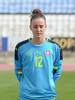 20180305 - LARNACA , CYPRUS : Swiss  pictured during a women's soccer game between Switzerland and Wales , on monday 5 March 2018 at GSZ Stadium in Larnaca , Cyprus . This is the third game in group A for Switzerland and Wales during the Cyprus Womens Cup , a prestigious women soccer tournament as a preparation on the World Cup 2019 qualification duels. PHOTO SPORTPIX.BE | DAVID CATRY