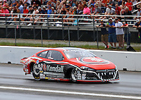 Jun 4, 2016; Epping , NH, USA; NHRA pro stock driver V. Gaines during qualifying for the New England Nationals at New England Dragway. Mandatory Credit: Mark J. Rebilas-USA TODAY Sports