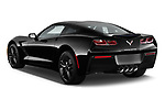 Car pictures of rear three quarter view of a 2019 Chevrolet Corvette Stingray Coupe 2LT 3 Door Targa angular rear
