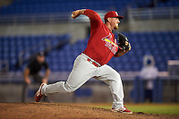 Palm Beach Cardinals relief pitcher Kyle Grana (54) delivers a pitch during a game against the Dunedin Blue Jays on April 15, 2016 at Florida Auto Exchange Stadium in Dunedin, Florida.  Dunedin defeated Palm Beach 8-7.  (Mike Janes/Four Seam Images)
