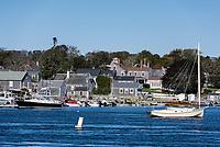 Charming New England coastal town of Westport, Massachusetts, USA.