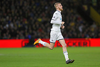 Oliver McBurnie of Swansea City runs onto the pitch during the Premier League match between Watford and Swansea City at the Vicarage Road, Watford, England, UK. Saturday 30 December 2017
