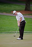 Troy Matteson putting during the second round of the Quail Hollow Championship