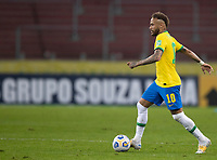 4th June 2021; Beira-Rio Stadium, Porto Alegre, Brazil; Qatar 2022 qualifiers; Brazil versus Ecuador; Neymar of Brazil looking for a shooting lane