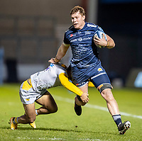 27th December 2020; AJ Bell Stadium, Salford, Lancashire, England; English Premiership Rugby, Sale Sharks versus Wasps; Cobus Weise of Sale Sharks is tackled