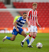 6th February 2021; Bet365 Stadium, Stoke, Staffordshire, England; English Football League Championship Football, Stoke City versus Reading; Sam Clucas of Stoke City looks to pass the ball