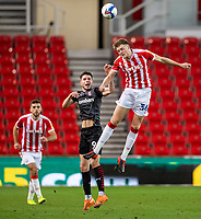 31st October 2020; Bet365 Stadium, Stoke, Staffordshire, England; English Football League Championship Football, Stoke City versus Rotherham United; Harry Souttar of Stoke City heads the ball