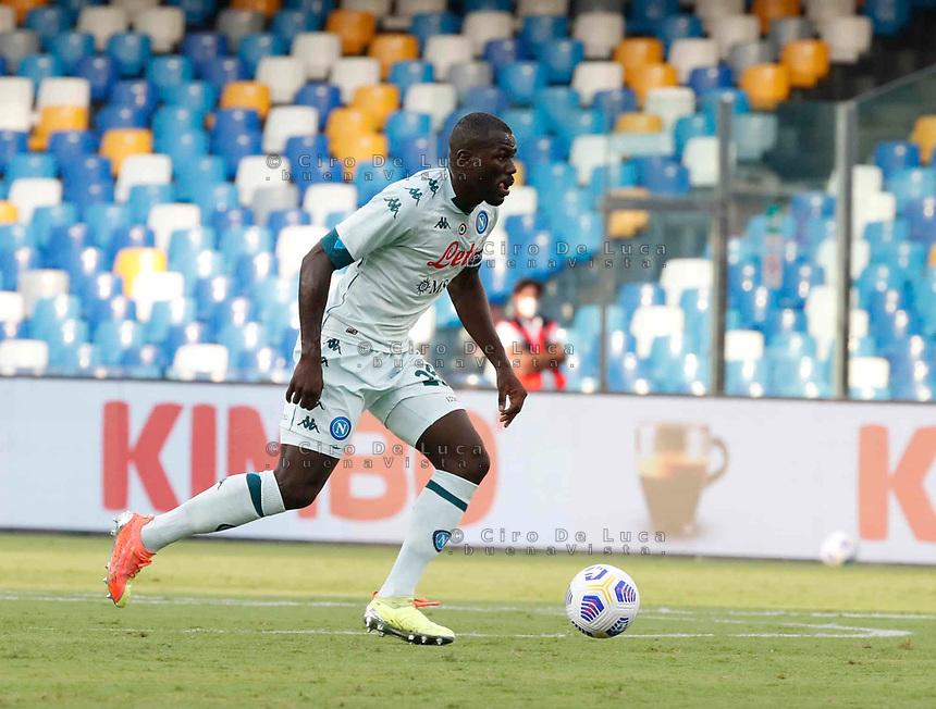 Kalidou Koulibaly during a friendly match Napoli - Pescara  at Stadio San Paoli in Naples