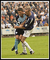28/9/02       Copyright Pic : James Stewart                     .File Name : stewart-falkirk v st j'stone 08.PADDY CONNOLLY AND LEE MILLER COLLIDE....James Stewart Photo Agency, 19 Carronlea Drive, Falkirk. FK2 8DN      Vat Reg No. 607 6932 25.Office : +44 (0)1324 570906     .Mobile : + 44 (0)7721 416997.Fax     :  +44 (0)1324 570906.E-mail : jim@jspa.co.uk.If you require further information then contact Jim Stewart on any of the numbers above.........
