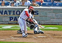 15 May 2012: Washington Nationals outfielder Roger Bernadina in action against the San Diego Padres at Nationals Park in Washington, DC. The Padres defeated the Nationals 6-1 to split their 2-game series. Mandatory Credit: Ed Wolfstein Photo