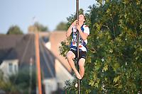 FIERLJEPPEN: IJLST: 11-08-2021, Wisse Broekstra, 20.06 m, ©foto Martin de Jong