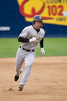 June 1, 2008: Salt Lake Bees' Adam Pavkovich makes his way to third base against the Tacoma Rainiers at Cheney Stadium in Tacoma, Washington.