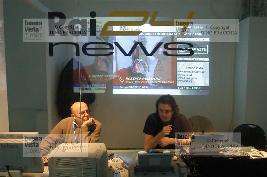 - exhibition of computer science and technological innovation Futurshow, broadcasting studio Rai 24 News....- salone dell'informatica e dell'innovazione tecnologica Futurshow, studio di trasmissione Rai 24 News....