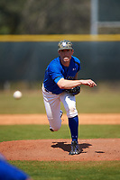 Seton Hall Pirates relief pitcher Ryan Testani (29) delivers a pitch during a game against the Ohio State Buckeyes on March 4, 2016 at North Charlotte Regional Park in Port Charlotte, Florida.  Ohio State defeated Seton Hall 9-3.  (Mike Janes/Four Seam Images)