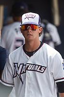 NW Arkansas Travelers Bobby Witt Jr. (7) before a game against the Tulsa Drillers on June 5, 2021 at Arvest Ballpark in Springdale, Arkansas.  (Travis Berg/Four Seam Images)