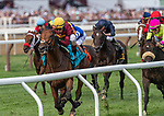 August 07, 2021: State of Rest (IRE) #9, ridden by jockey John Velazquez wins the $1 million Saratoga Derby Invitational Stakes (Grade 1) on the turf at Saratoga Race Course in Saratoga Springs, N.Y. on August 7, 2021. Rob Simmons/Eclipse Sportswire/CSM