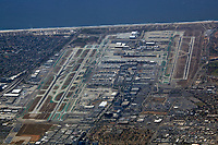aerial photograph of Los Angeles International airport (LAX), Los Angeles, California