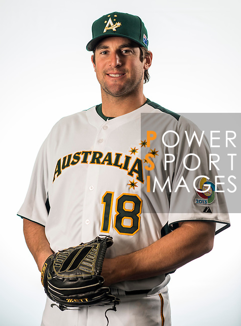 Ryan Rowland-Smith of Team Australia poses during WBC Photo Day on February 25, 2013 in Taichung, Taiwan. Photo by Andy Jones / The Power of Sport Images
