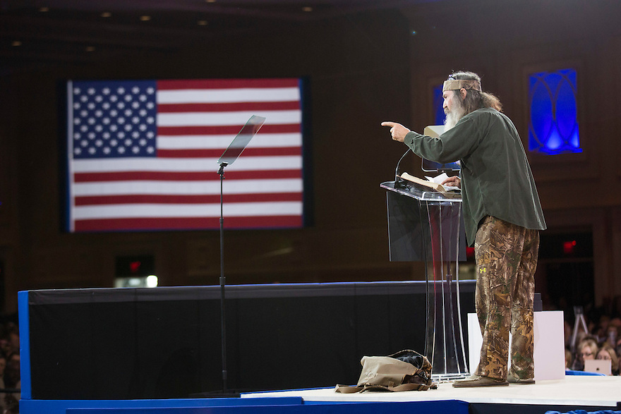 Phil Robertson of popular TV show 'Duck Dynasty' speaks at the  annual Conservative Political Action Conference (CPAC).