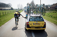 Sep Vanmarcke (BEL/LottoNL-Jumbo) doing domestique shores for the team<br /> <br /> 103rd Scheldeprijs 2015