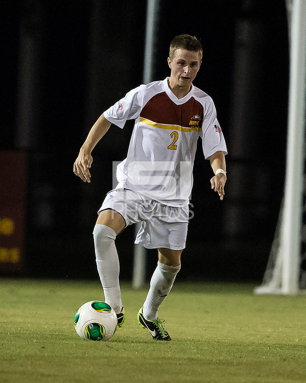 The Winthrop University Eagles played the College of Charleston Cougars at Eagles Field in Rock Hill, SC.  College of Charleston broke the 1-1 tie with a goal in the 88th minute to win 2-1.  Cody Winter (2)