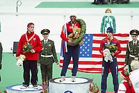 SPEEDSKATING, WK Allround Moskou 2005 Shani Davis ©foto Martin de Jong