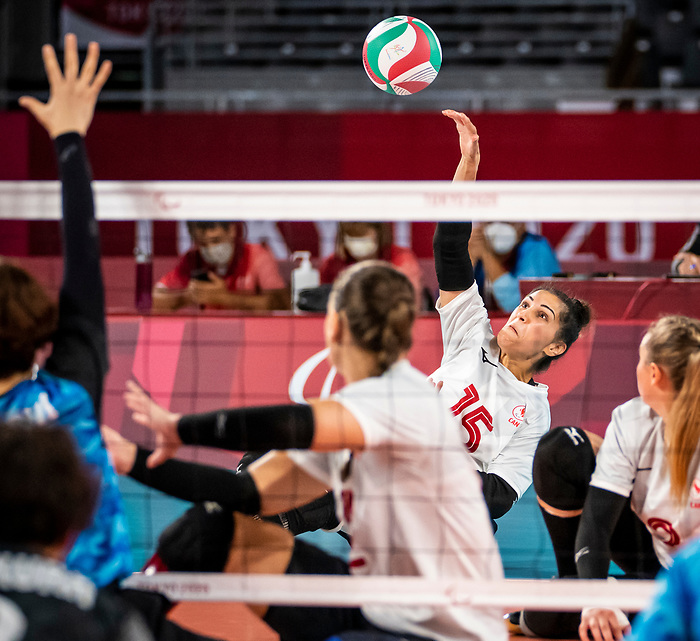 Felicia Voss-Shafiq, Tokyo 2020 - Sitting Volleyball // Volleyball Assis.<br /> Canada takes on Japan in sitting volleyball // Le Canada affronte le Japon en volleyball assis. 09/01/2021.