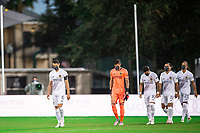 LAKE BUENA VISTA, FL - JULY 23: LA Galaxy before the game during a game between Los Angeles Galaxy and Houston Dynamo at ESPN Wide World of Sports on July 23, 2020 in Lake Buena Vista, Florida.
