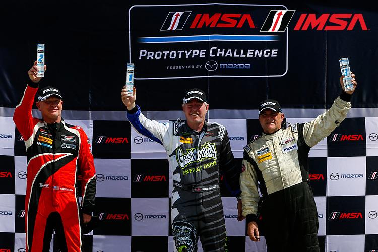 IMSA Prototype Challenge Presented by Mazda<br /> Sahlen's Six Hours of the Glen<br /> Watkins Glen International, Watkins Glen, NY USA<br /> Friday 30 June 2017<br /> IMSA Mazda Prototype Challenge Race 1, MPC Masters Podium<br /> World Copyright: Jake Galstad/LAT Images
