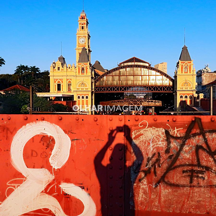 Edificio da estação da Luz, São Paulo. 2021. Foto Juca Martins.