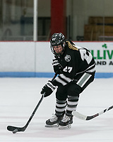 Boston, Massachusetts - January 12, 2019: NCAA Division I. Boston University (white) defeated Providence College, 4-2, at Walter Brown Arena.