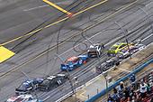 #12: Ryan Blaney, Team Penske, Ford Mustang Menards /Sylvania leads #20: Erik Jones, Joe Gibbs Racing, Toyota Camry Sport Clips to the checkered flag