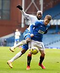 13.02.2021 Rangers v Kilmarnock: Steven Davis with Youssouf Mulumbu