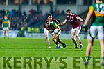 James O'Donoghue, Kerry in action against Johnny Heaney, Galway during the Allianz Football League Division 1 Round 2 match between Kerry and Galway at Austin Stack Park in Tralee, Kerry.