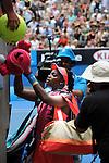 Sloane Stephens (USA) defeats Elina Svitolina (UKR) 7-5, 6-4 at the Australian Open in Melbourne, Australia on January 2014