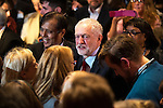 © Joel Goodman - 07973 332324 . 24/09/2016 . Liverpool , UK . JEREMY CORBYN leaves the arena after delivering his speech at the Labour Party leadership declaration in the campaign between Jeremy Corbyn and Owen Smith , at the Liverpool Arena and Convention Centre ahead of the party's 2016 Conference . Photo credit : Joel Goodman