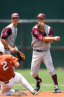 Greene, Brodie 0697.jpg.  Big 12 Baseball game with Texas A&M Aggies at Texas Lonhorns  at UFCU Disch Falk Field on May 9th 2009 in Austin, Texas. Photo by Andrew Woolley.