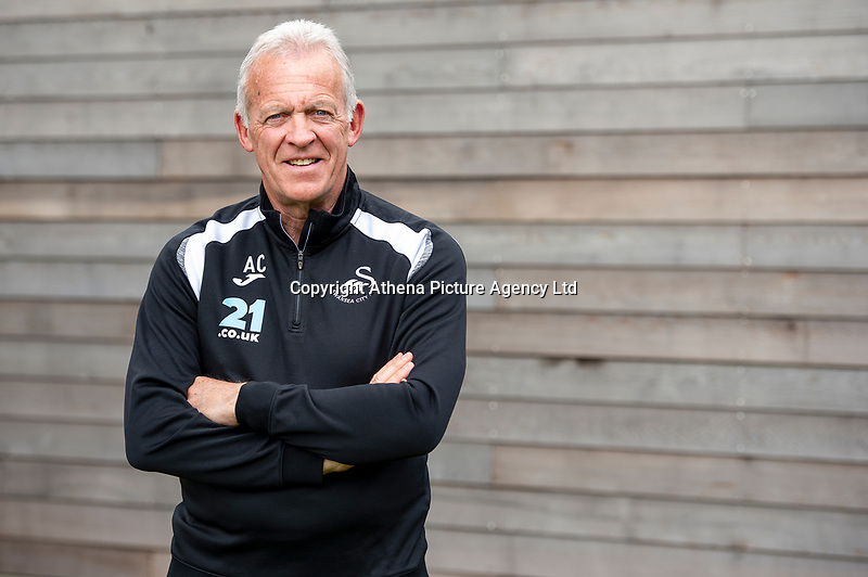 Pictured: Alan Curtis, assistant coach for Swansea City FC at the Fairwood training Ground, Swansea, Wales, UK. <br /> Tuesday 16 April 2019