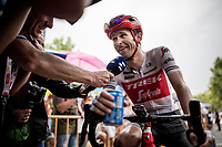 Peter Stetina (USA/Trek-Segafredo) interviewed at the finish<br /> <br /> Stage 8: Valls to Igualada (167km)<br /> La Vuelta 2019<br /> <br /> ©kramon