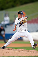 Connecticut starting pitcher Nick Pereira (22) in action versus Harrisburg at Dodd Stadium in Norwich, CT, Wednesday, August 22, 2007.