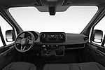 Stock photo of straight dashboard view of 2019 Mercedes Benz Sprinter - 2 Door Cargo Van Dashboard